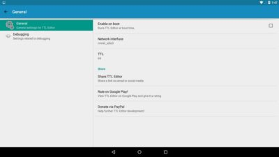 Как поменять TTL на Android?
