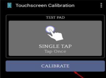 Калибровка сенсора на андроид